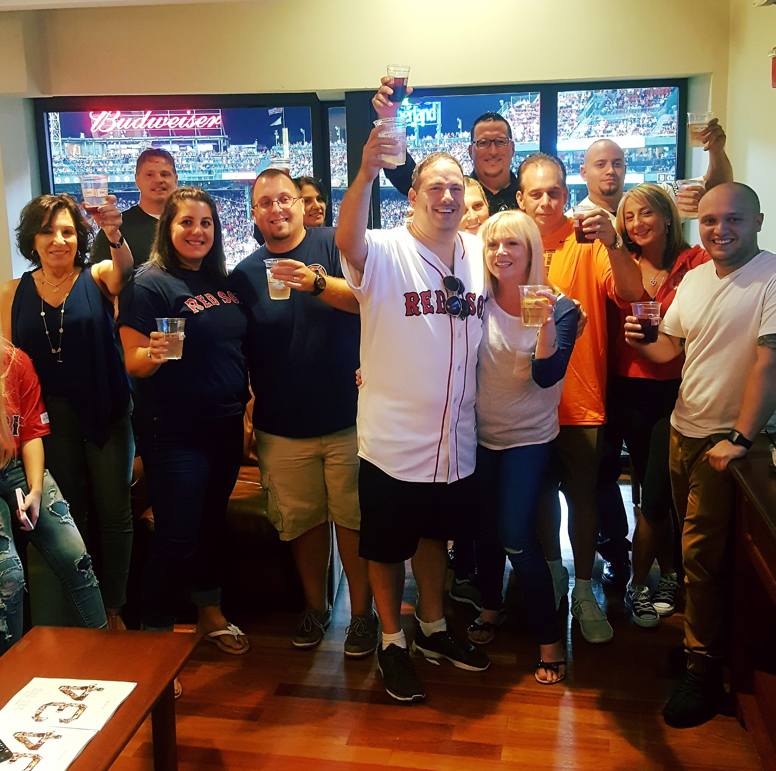 74aceac3 On Tuesday night (September 13) he watched his first place Red Sox with 19  of his closest friends and family from a ...